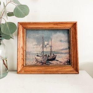 Other - Vintage ships framed print
